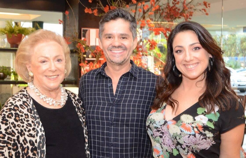 Rosa e Monica Kochen com Ricardo Mello  /Foto: Marco Rodrigues