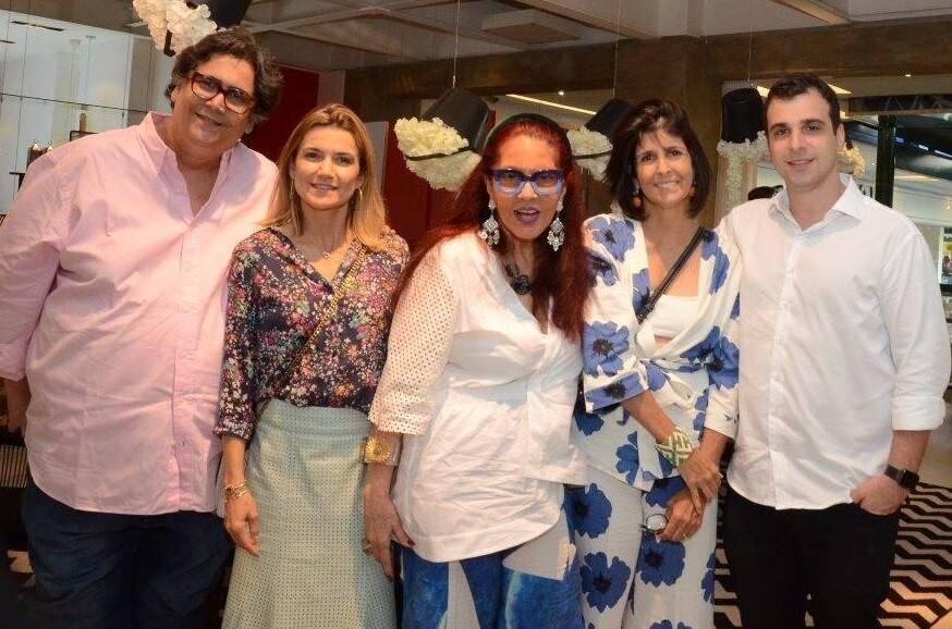 Antonio Neves da Rocha, Flávia Marcolini, Tânia Caldas, Lucila Pessoa de Queiroz e Paulo Crosman  /Foto: Marco Rodrigues