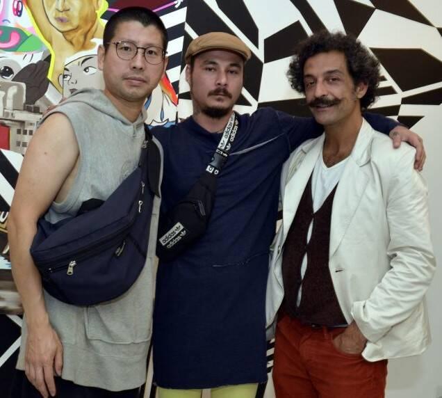 Yasuhiro Chida, Claudio Tobinaga  e Alê Gabeira  /Foto: Cristina Granato