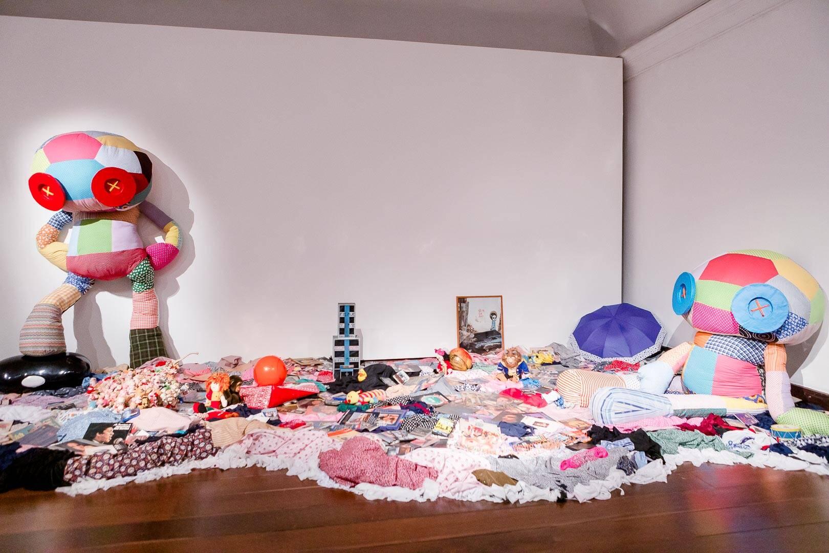 A instalação de Tinho /Foto: Bruno Ryfer