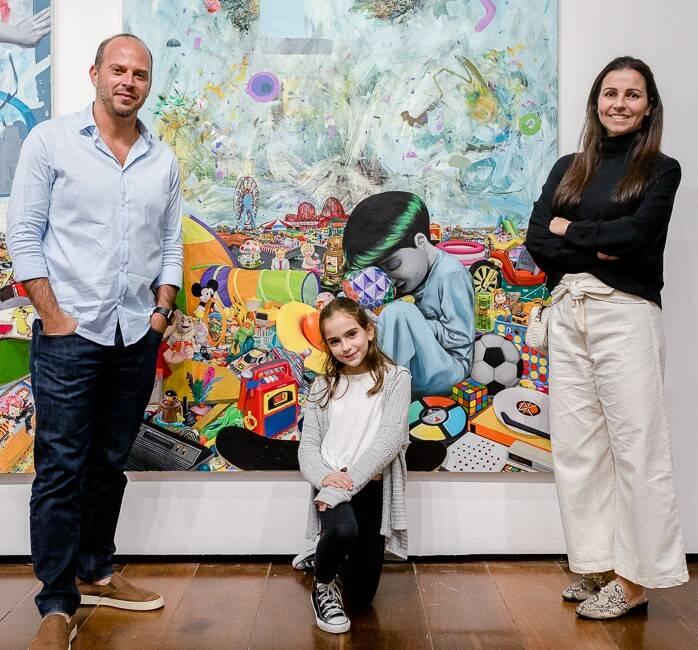 Ricardo Kimad e Juliana Kimaid  com a filha, Gabriela  /Foto: Bruno Ryfer