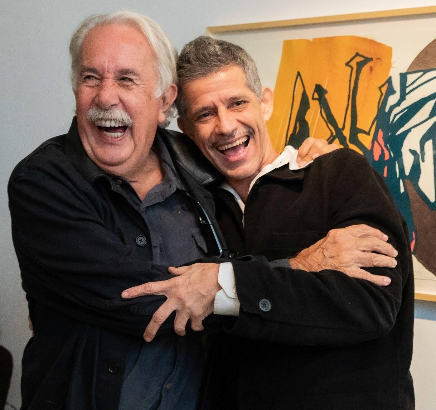 Carlos Vergara e Cabelo /Foto: Alan Miguel Gonçalves