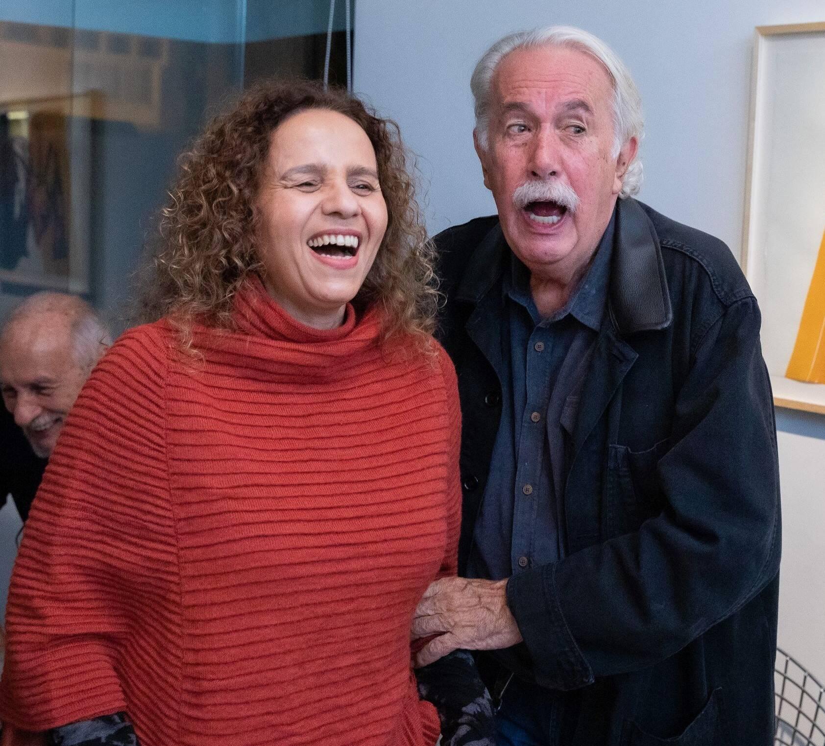 Beatriz Milhazes e Carlos Vergara /Foto: Alan Miguel Gonçalves