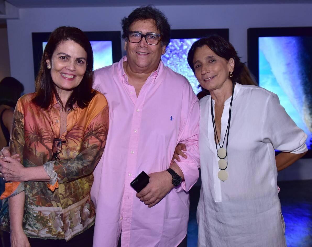 Tininha Machado Coelho, Antonio Neves da Rocha e Ester Lima  /Foto: Paulo Jabur