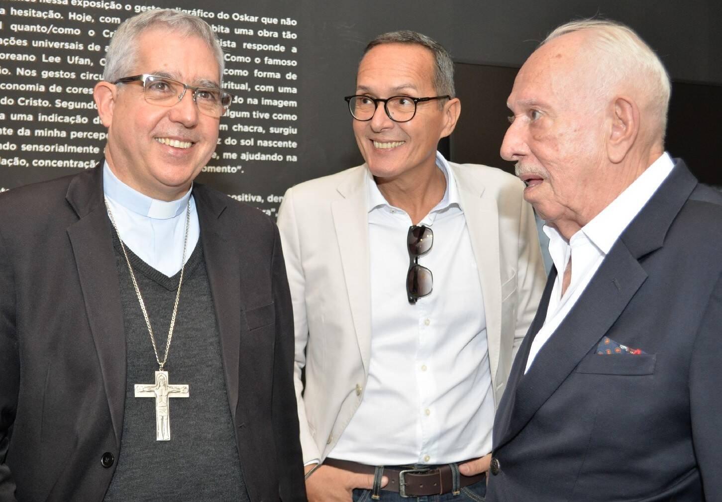 Dom Devair, Luiz Henrique Marcon e José Carlos Marçal /Foto: Sonia Balady