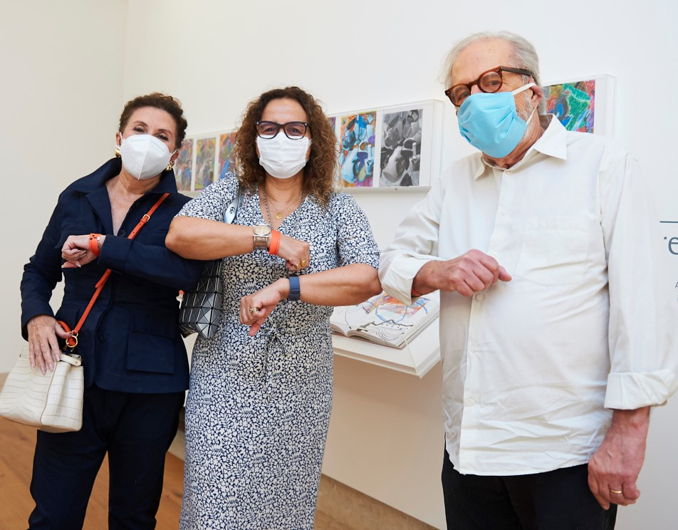 Luiz Aquila, Beatriz Milhazes e Tanit Galdeano /Foto: Selmy Yassuda
