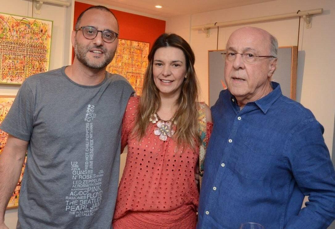 Candido Carneiro, Ilka Tostes e Evandro Carneiro /Foto: Marco Rodrigues