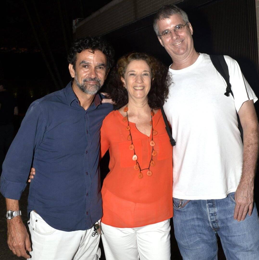 Diuk Mourão, Martha Niklaus e André Sheik  /Foto:  Cristina Granato