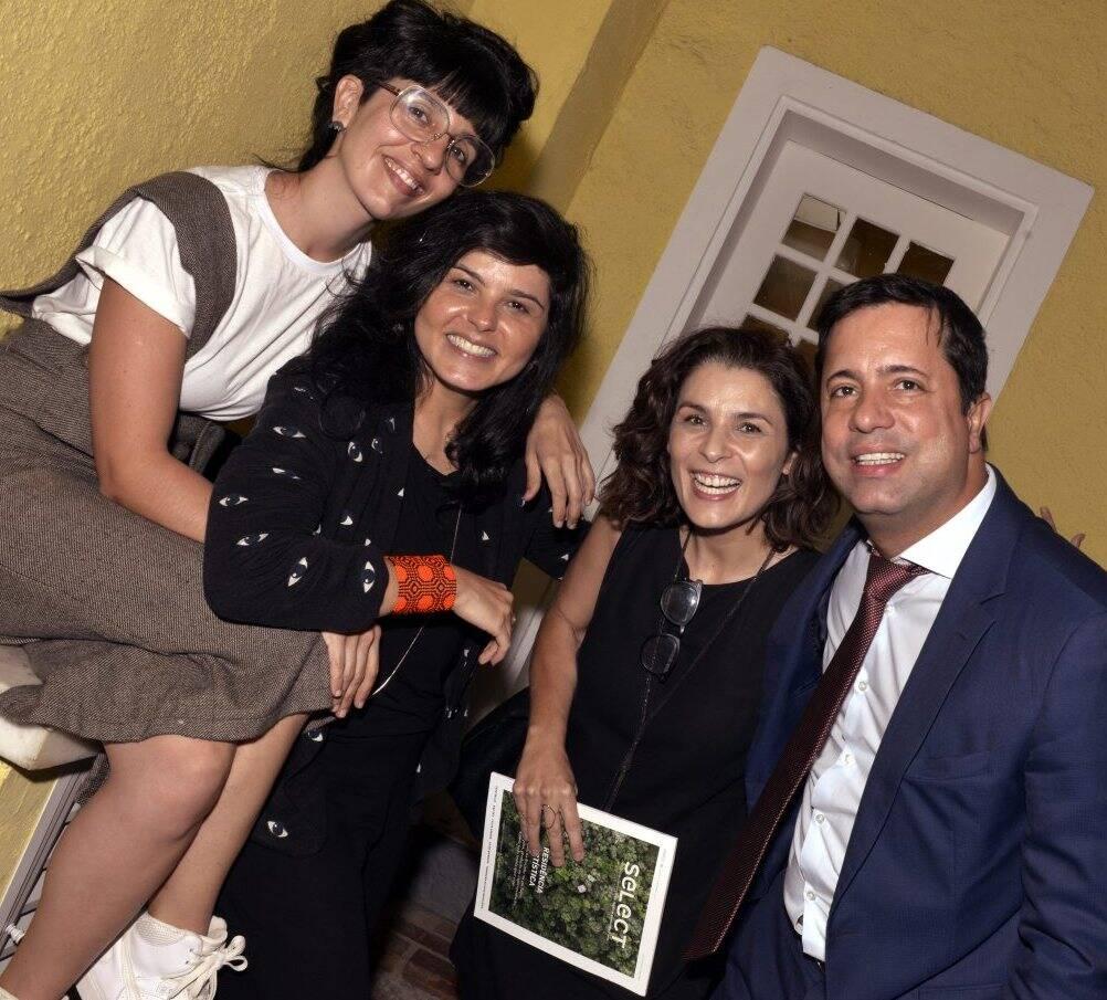 Leandra Espirito Santo, Roberta Carvalho, Jeane Terra  e Eduardo Braule-Wanderley  /Foto:  Cristina Granato