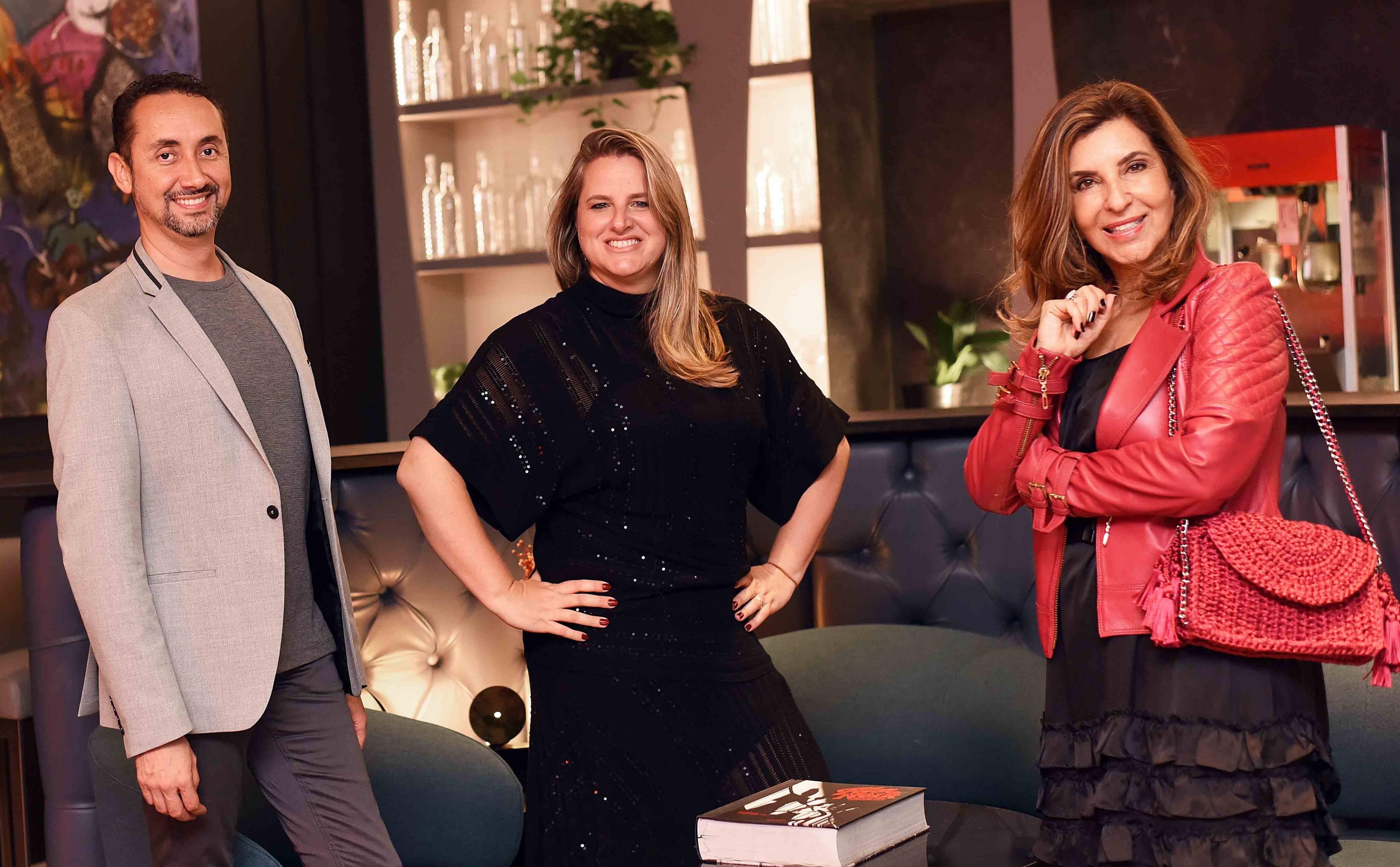Emerson Araujo,  Ana Cano e Lenora Lohrisch /Foto: Ari Kaye