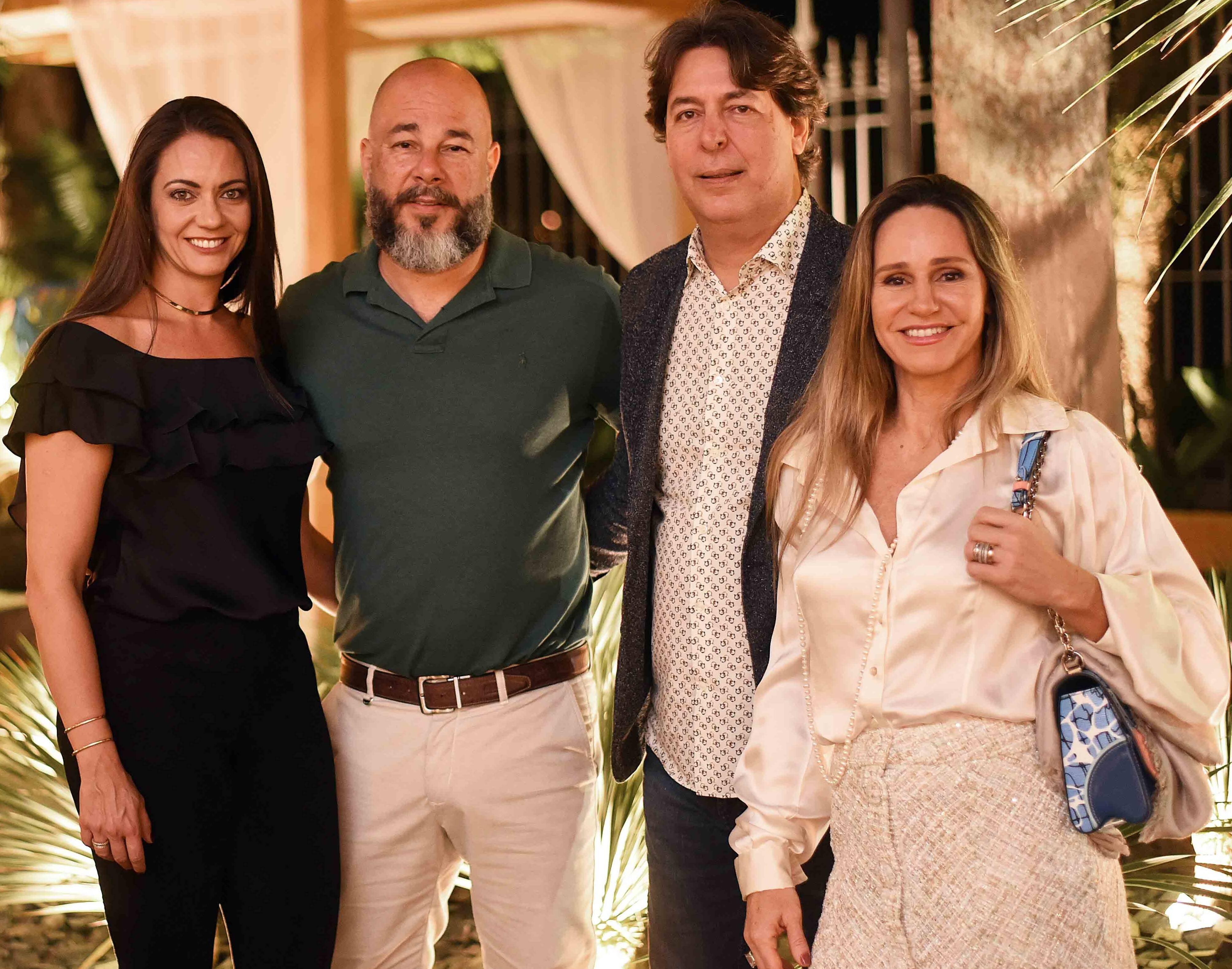 Luciana Placido, Sandro Ward, Roberto Borges e Monica Borges /Foto: Ari Kaye