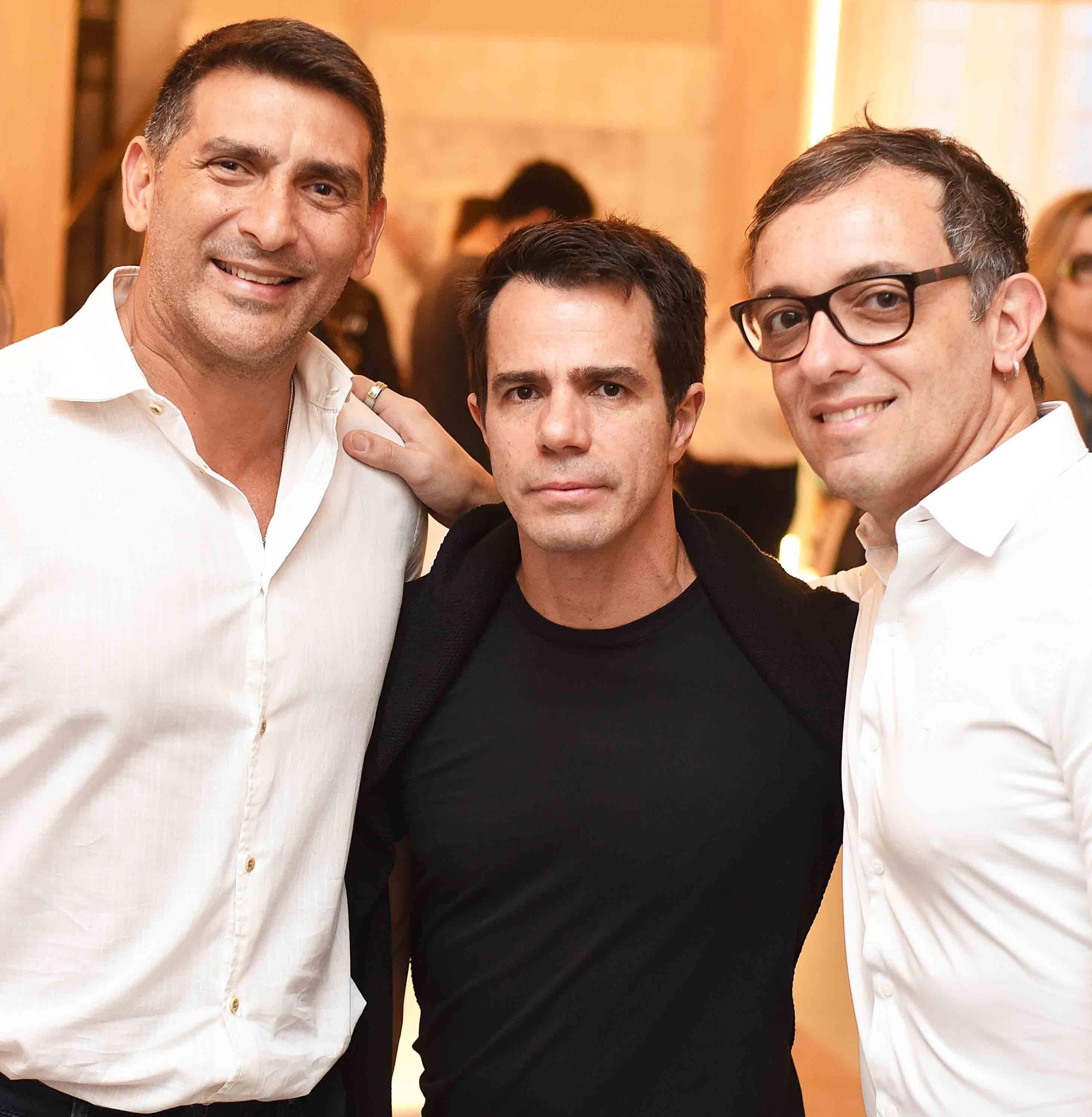 Mauricio Cacchione, Luis Fernando Amorim e Rodrigo Jorge /Foto: Ari Kaye