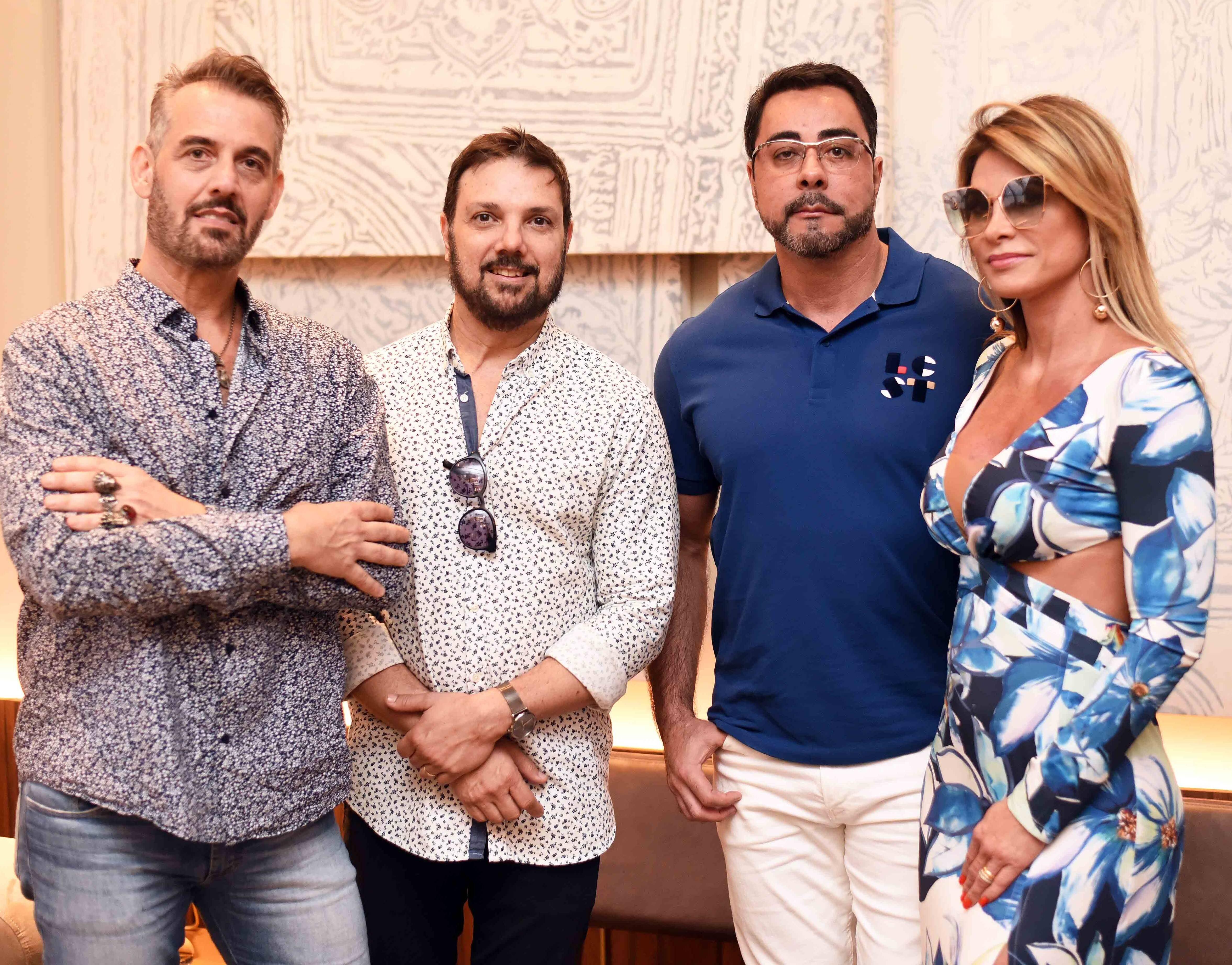 Walter Goldfarb, Mario Santos e o casal Simone e Marcelo Bretas/Foto: Ari Kaye