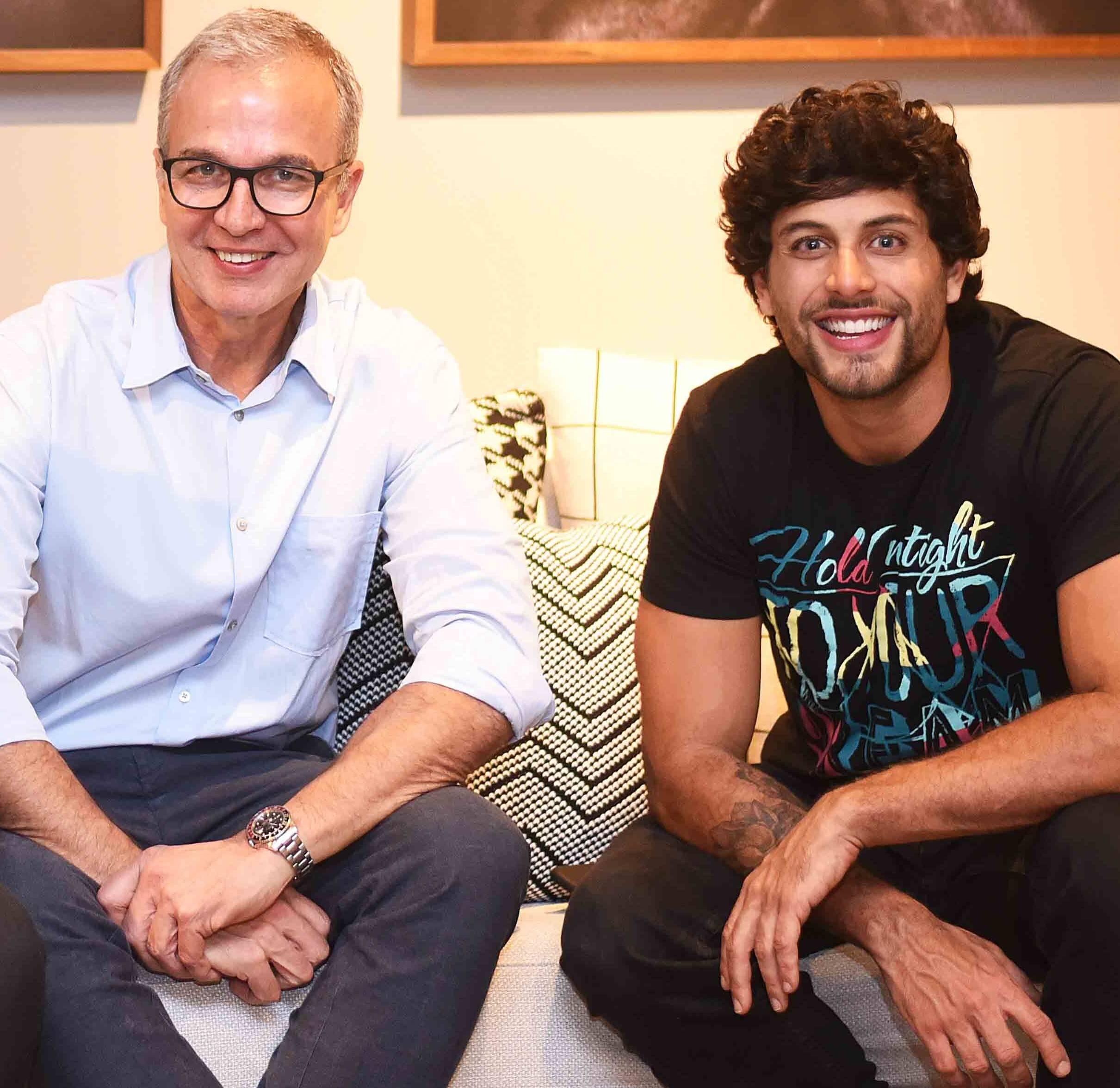 Jorge Delmas e Jesus Luz /Foto: Ari Kaye