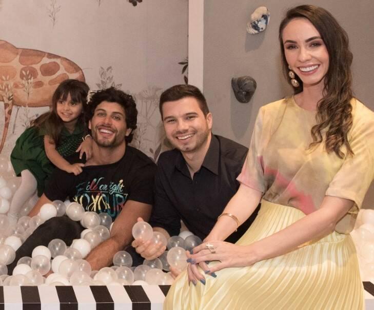 Jesus Luz com a filha, Malena, Ricardo Gutemberg e Lívia Quintella /Foto: Reprodução