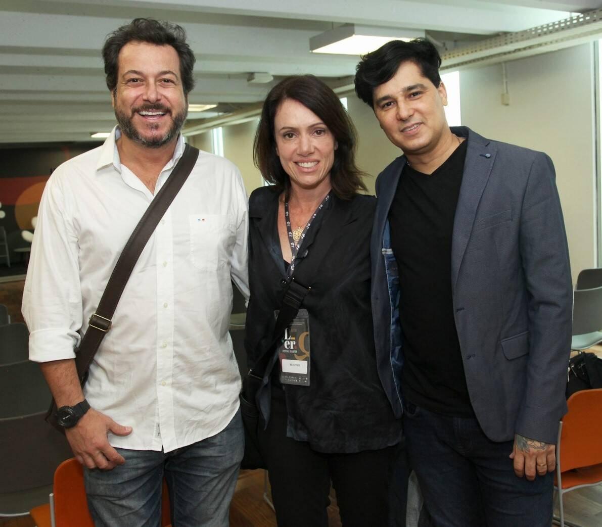 Bruno Padilha, Bel Kutner e Omar Menezes  /Foto: Vera Donato