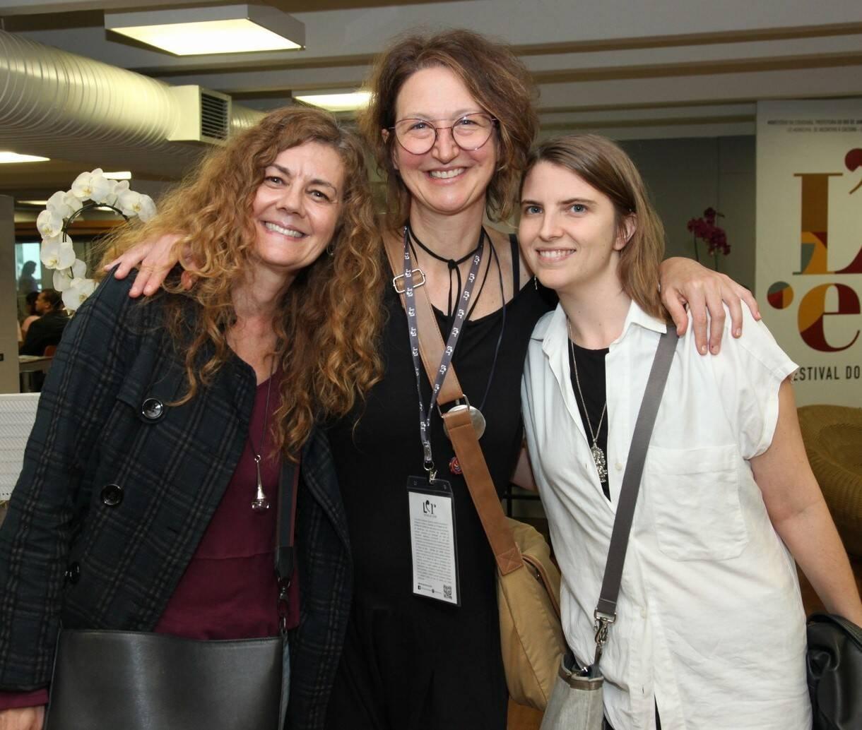 Andrea Bietri, Paula Taitelbaum e Erica Munhoz  /Foto: Vera Donato