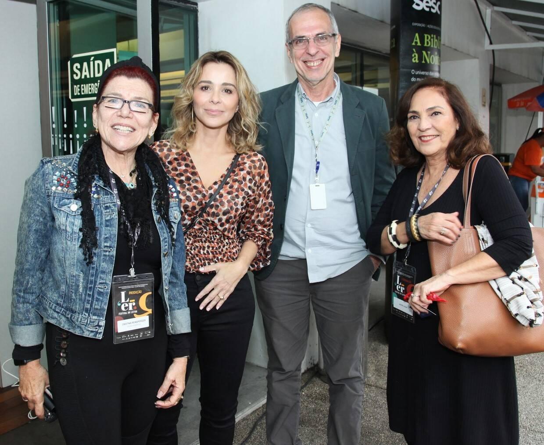 Cristina Reinsperger, Leticia Rangel, Flavio Wittlin e Jacyra Lucas  /Foto: Vera Donato
