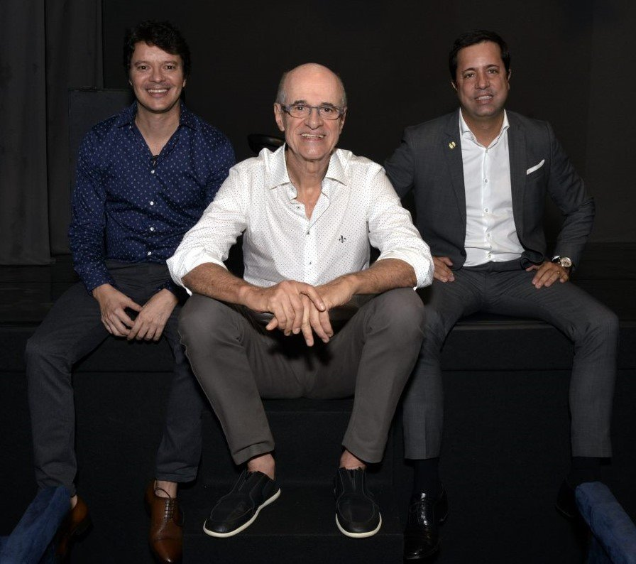 André Junqueira, Marcos Caruso e Eduardo Wanderley /Foto: Cristina Granato