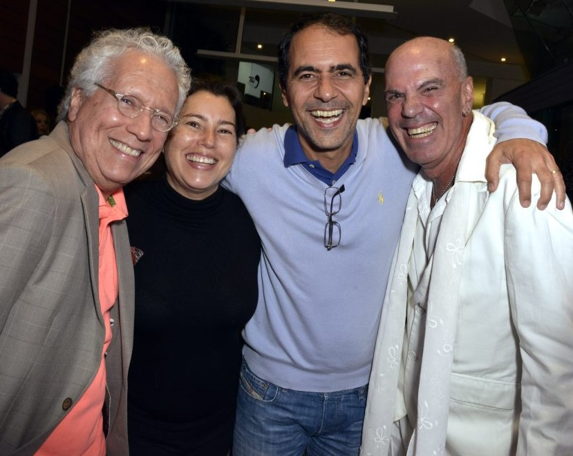 Sergio Fonta, Tetê e Leonardo Haus, e Fredy Ribeiro  /Foto: Cristina Granato
