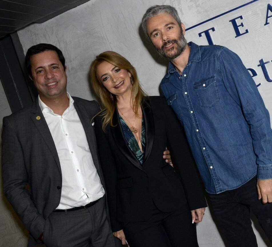 Eduardo Wanderley, Simone Cadinelli e Angelo Paes Leme  /Foto: Cristina Granato