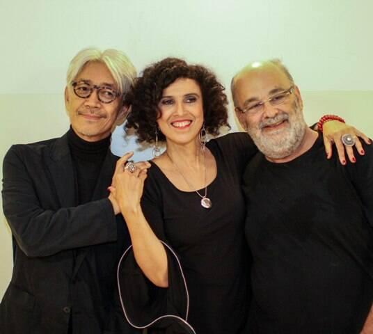 Ryuichi Sakamoto com Paula e Jaques Morelenbaum