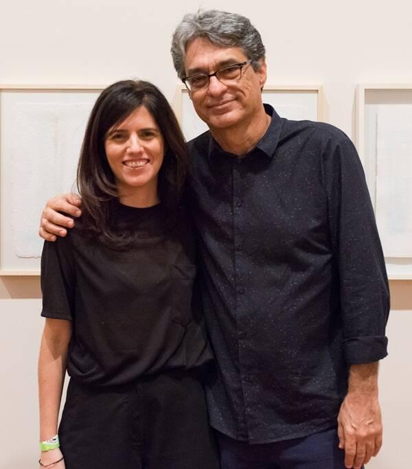 Os curadores Luísa Duarte e Evandro Salles