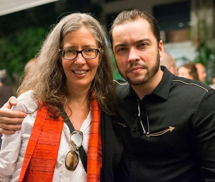 Tatiana Grinberg e Antonio Mourão, filho de Tunga