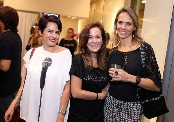 Chris e Suzana Galdeano com Karin de Guise