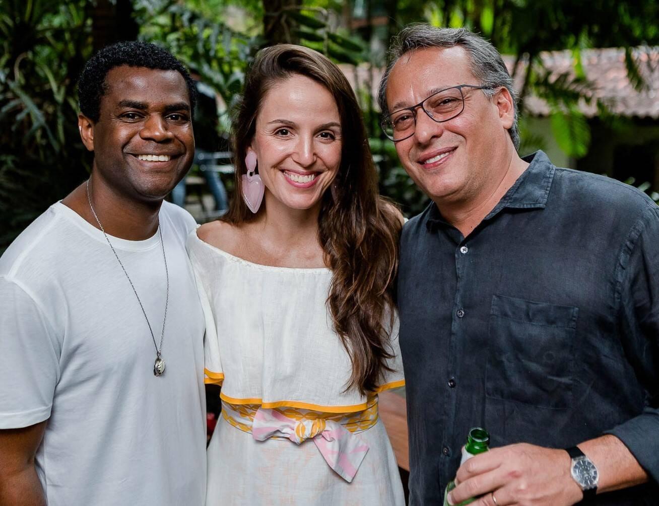 Pretinho da Serrinha, Malu Barretto e Antonio Pedro Figueira de Melo  /Foto: Bruno Ryfer