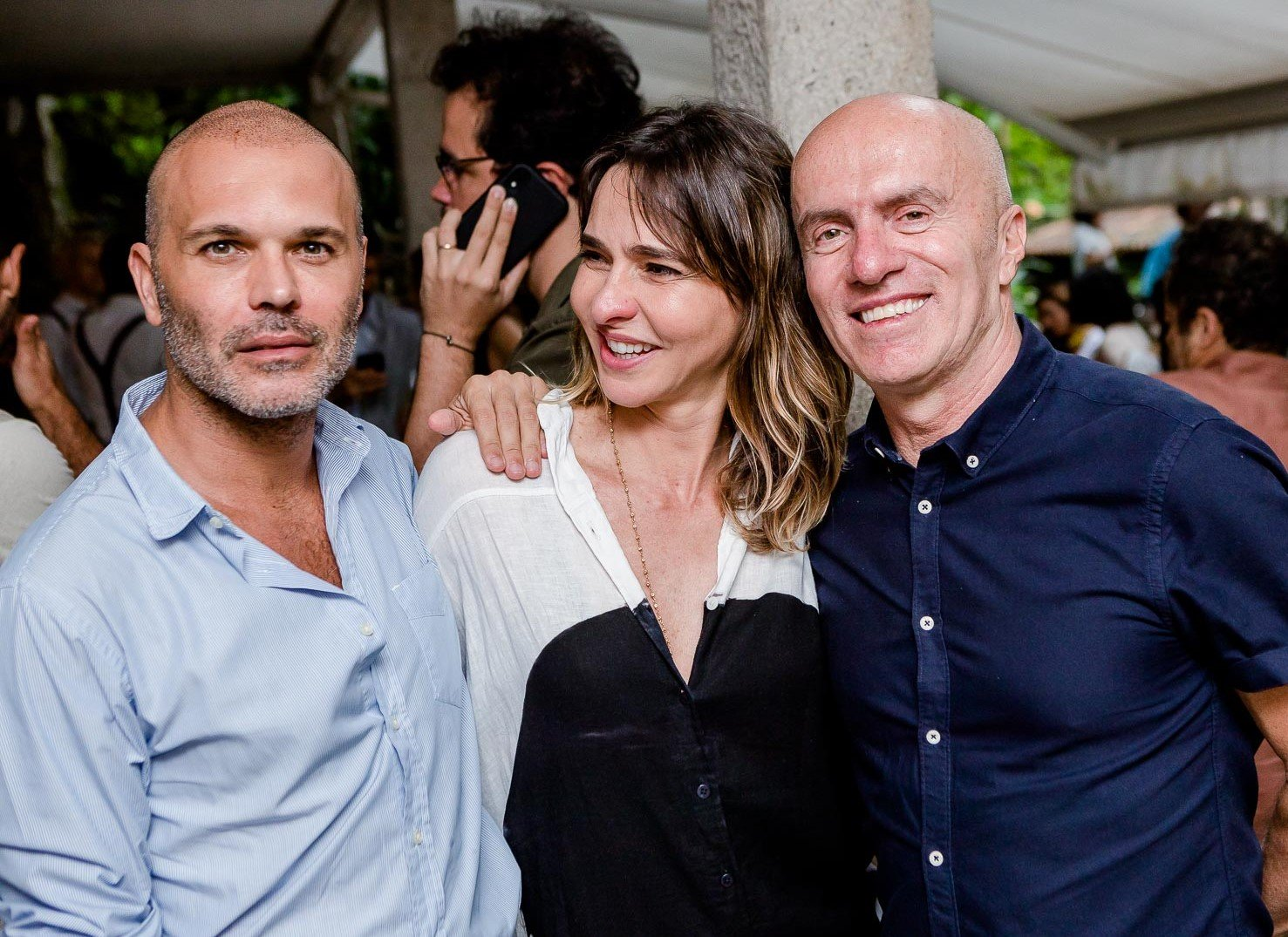 Jean Ruis, Zazá Piereck e Gringo Cardia  /Foto: Bruno Ryfer