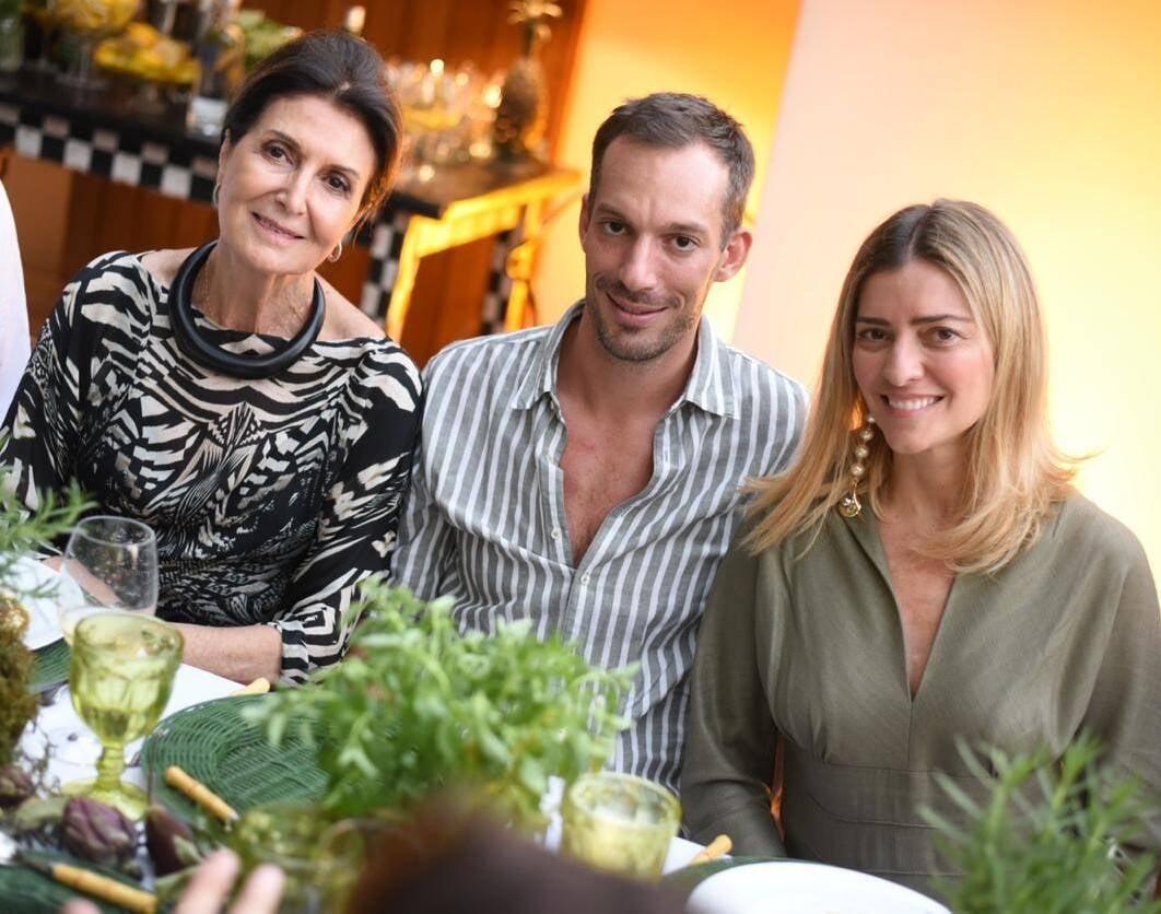 Cris Ferraz, Jean de Just e Flavia Pardini /Foto: Ari Kaye
