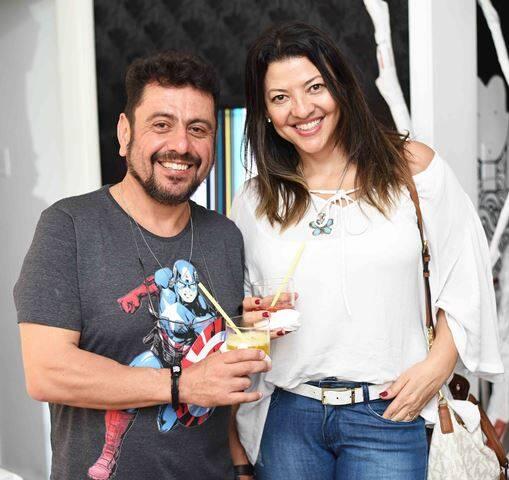 Mário Fischer e Adriana Borges