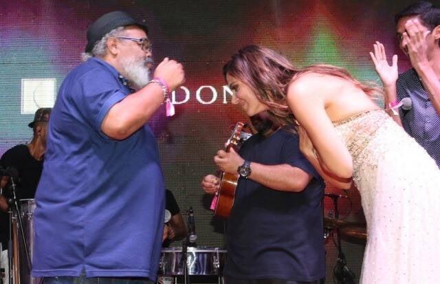 Jorge Aragão e Carol Sampaio
