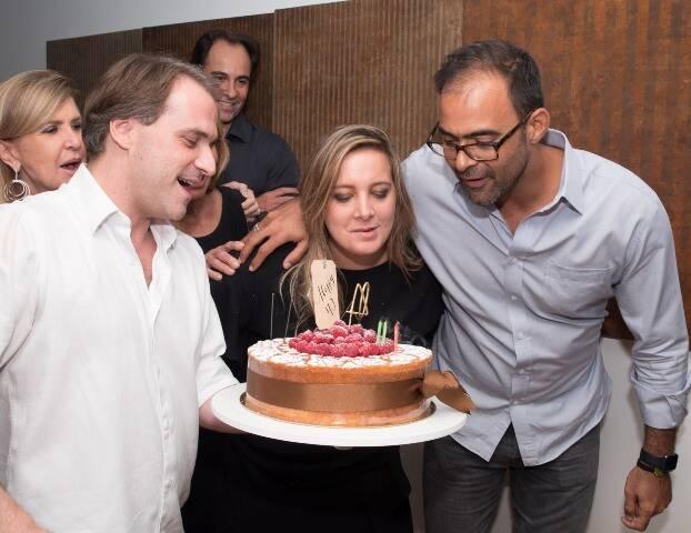 Chris Pasqualette entre Raphael Robalinho e  Tuneka Ferreira Leite