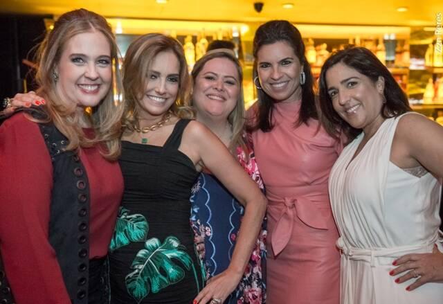 Juliana Barcellos, Georgia Buffara, Suzana Portella, Cris Ferracciu e Liza Rabinovitch
