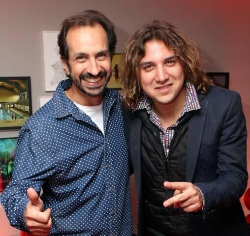 O DJ Janot e o saxofonista Rodrigo Sha