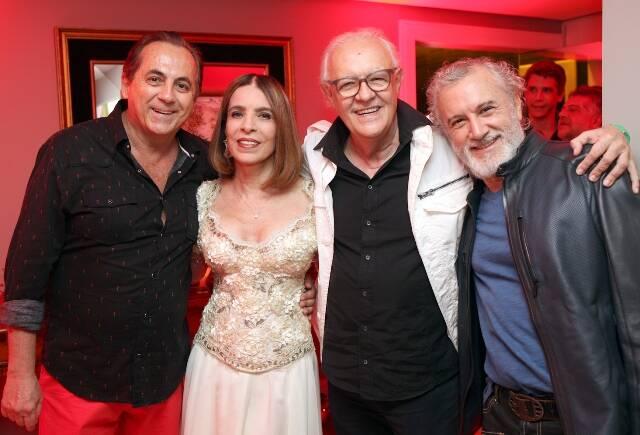 Ricardo Rique, Liège Monteiro, Ney Latorraca e Edi Botelho