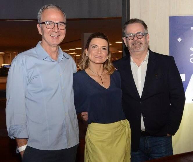 Jorge Delmas, Flávia Marcolini e Eduardo Machado /Foto: Marco Rodrigues