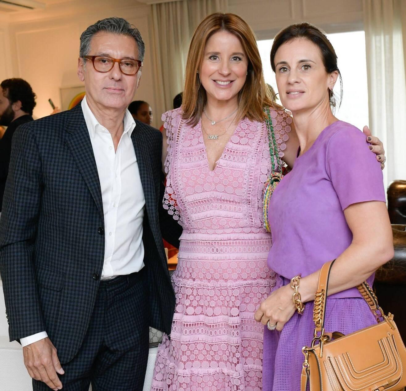 Roberto Paz, Adriana Trussardi e Carol Castelo Branco /Foto: Lu Prezia