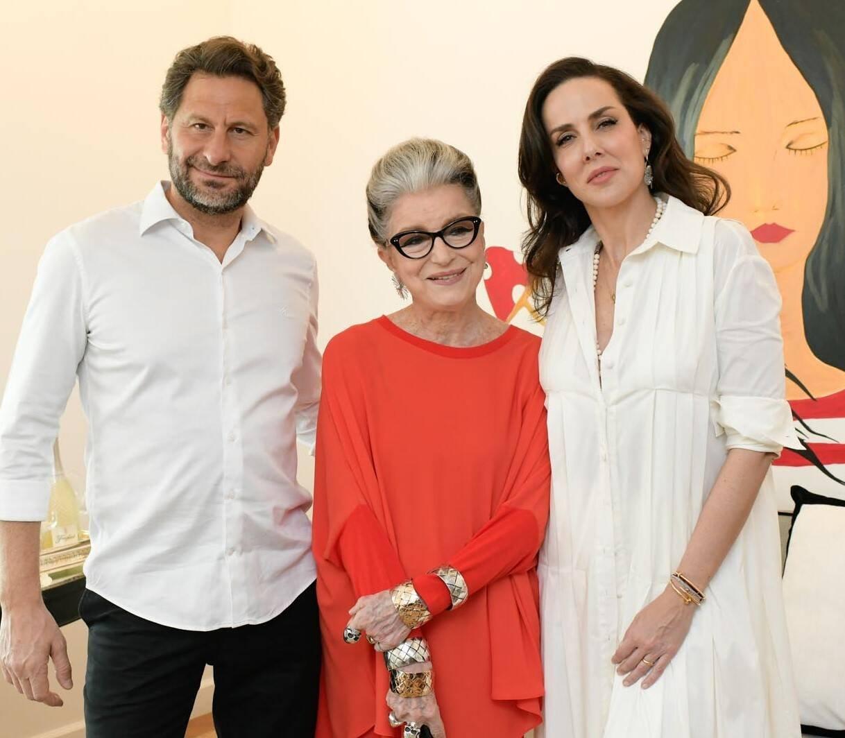 Costanza Pascolato e Ana Isabel Carvalho Pinto  e Eduardo Kyrillos /Foto: Lu Prezia