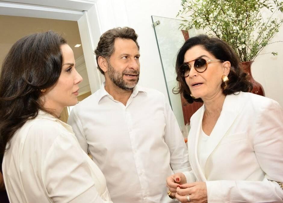 Ana Isabel Carvalho Pinto, Eduardo Kyrillos e Gloria Kalil  /Foto: Iara Morselli