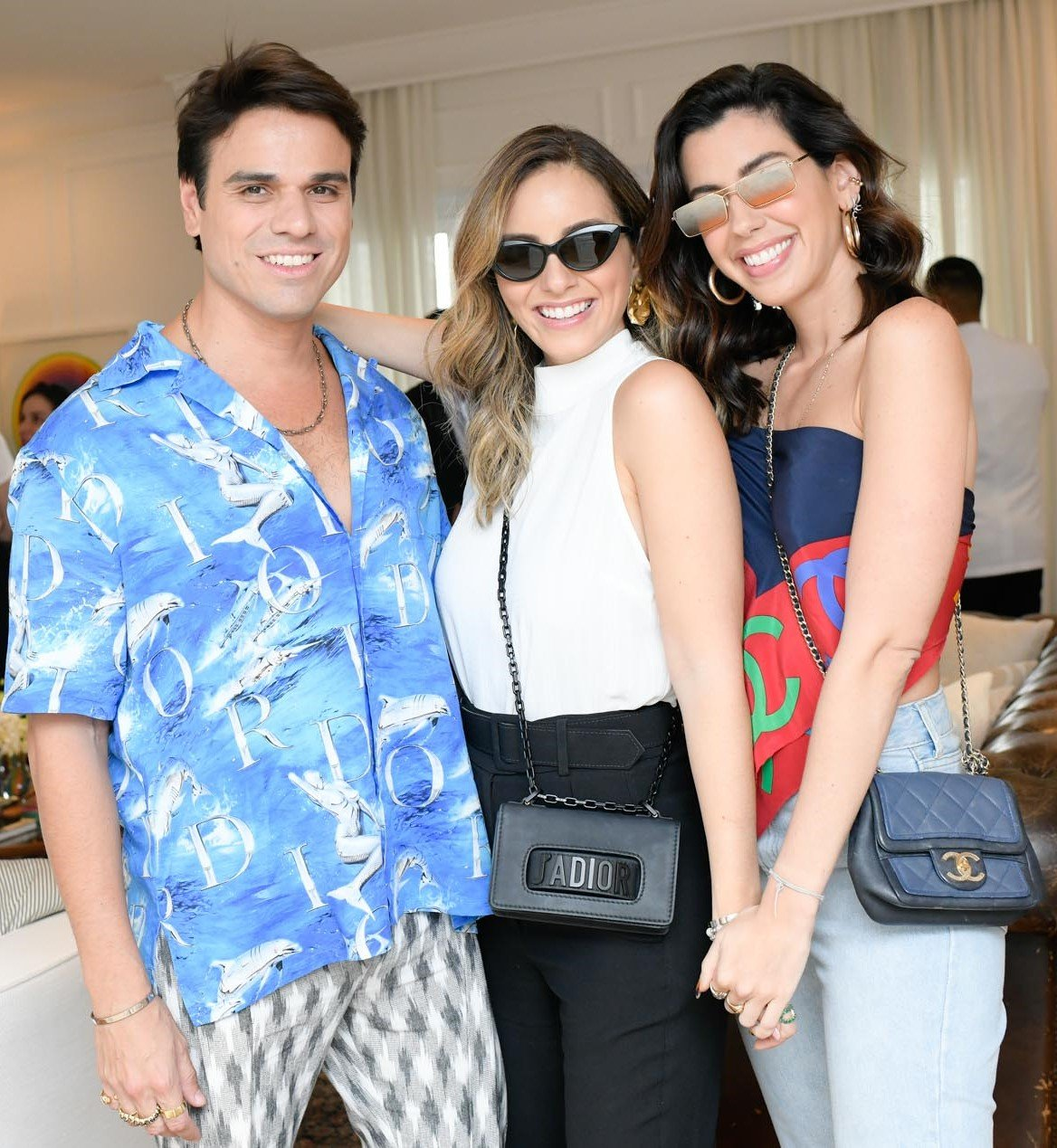 Beto Pacheco, Lele Saddi e Camila Coutinho /Foto: Lu Prezia