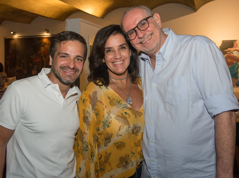 Sergio Felipe Coutinho,  Ana Tamoyo e Tom Saboia /Foto: Cristina Lacerda