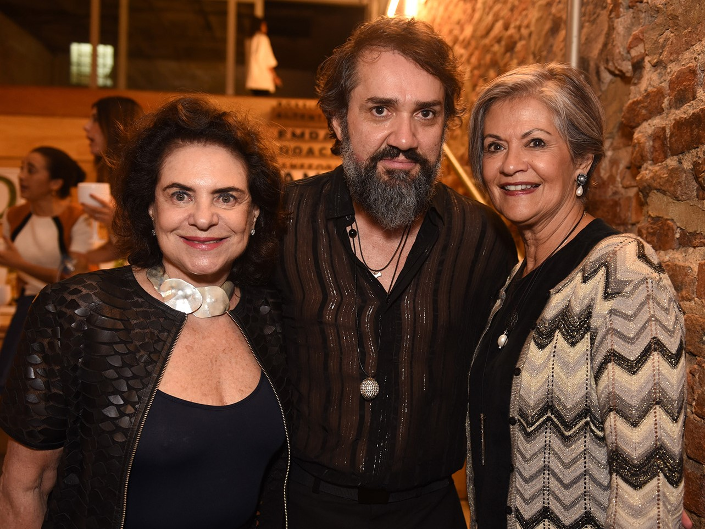 Cristina Burlamaqui, Beto Silva e Maria Carmen Perligeiro /Foto: Juliana Rezende