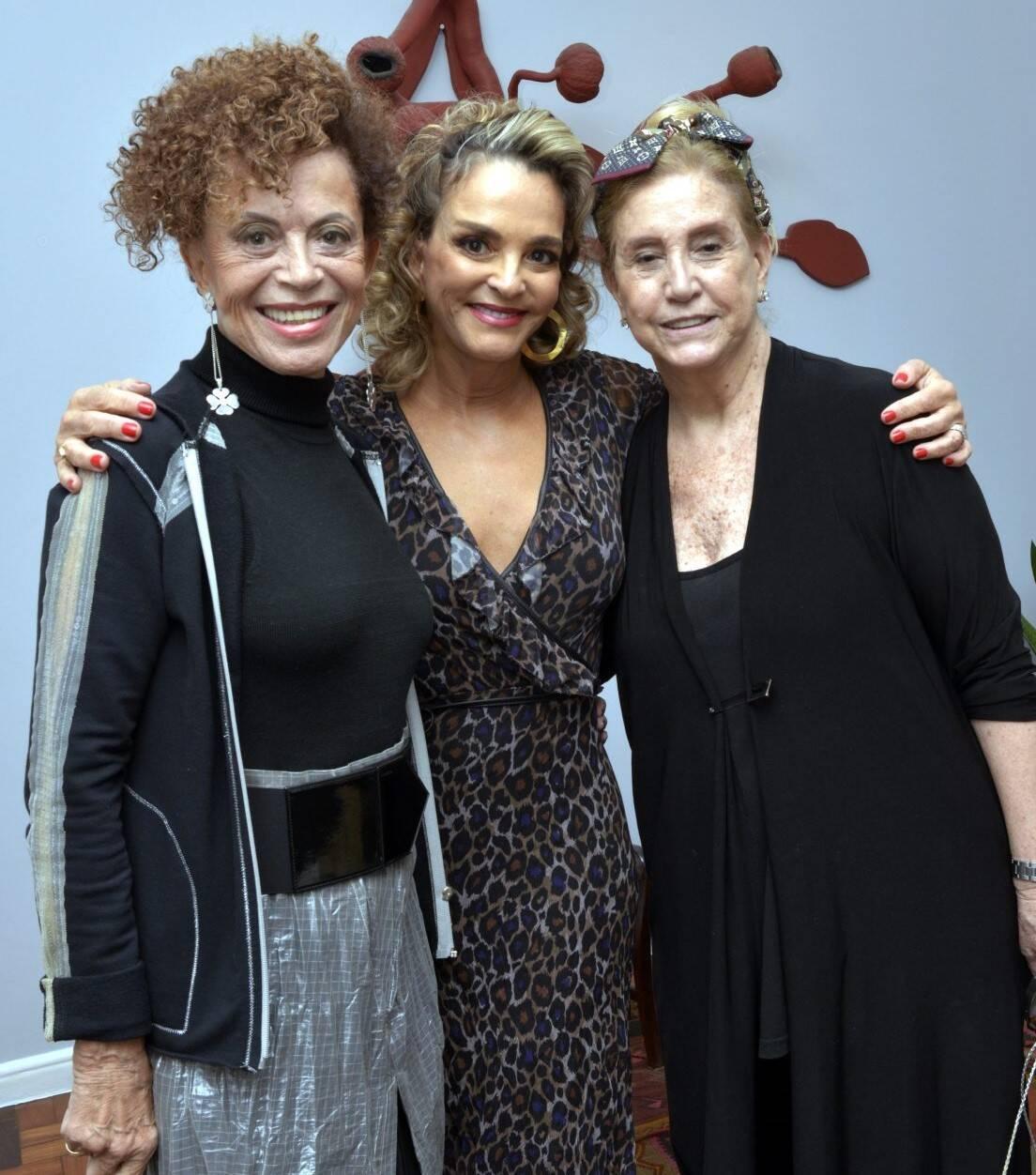 Marialice Celidônio, Cristina Midosi e Madeleine Saade /Foto: Cristina Granato