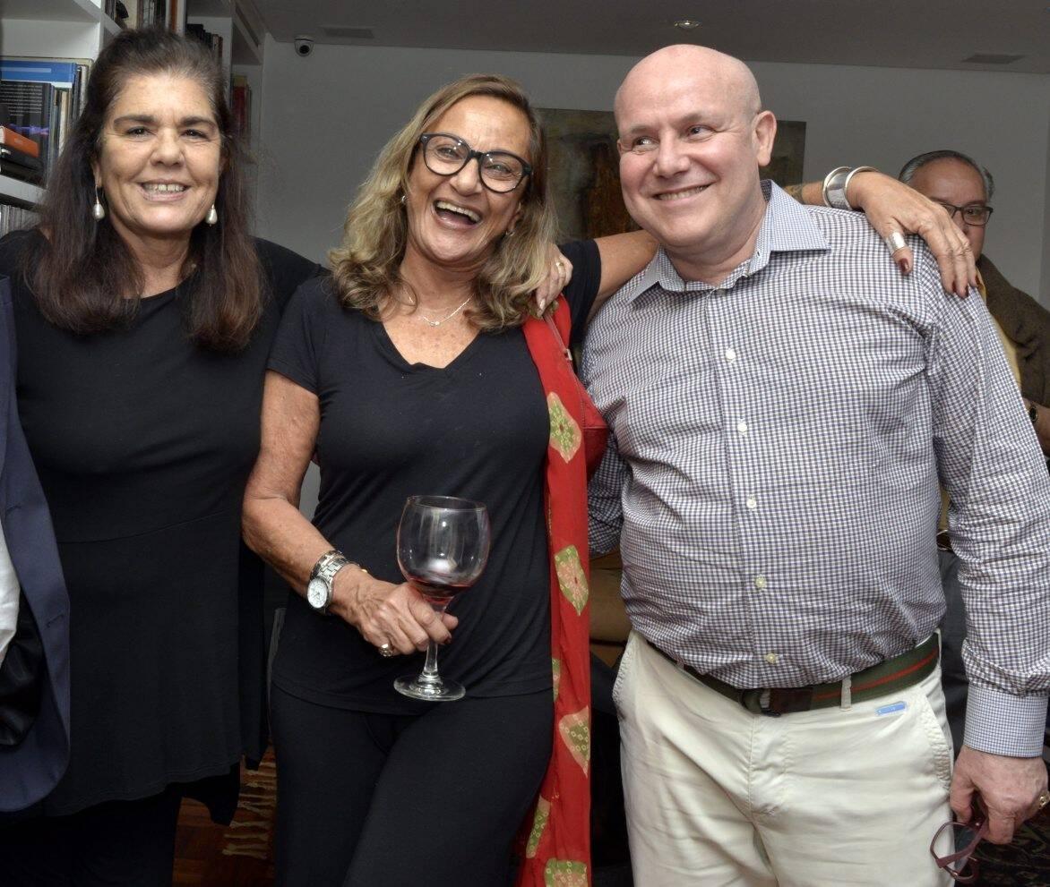 Bia Borges, Sonia Tomé e Paulo Müller /Foto: Cristina Granato