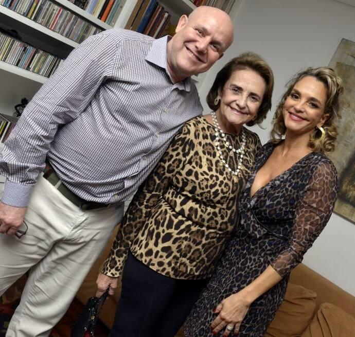 Paulo Müller,  Lucinha Araújo e Cristina Midosi /Foto: Cristina Granato