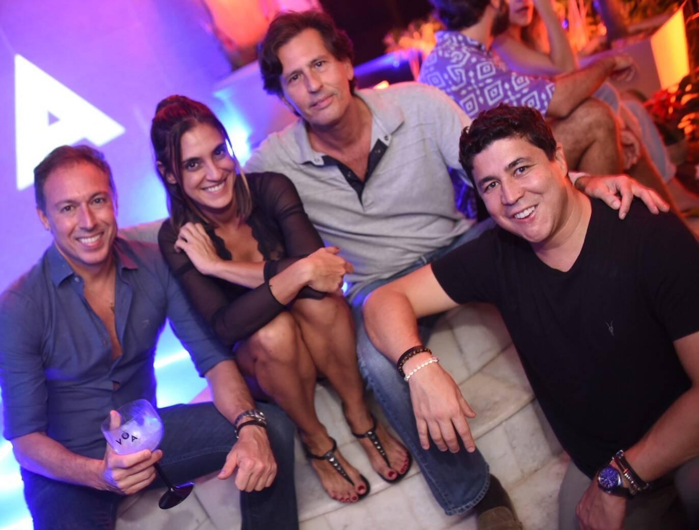 Sandro Schuback, Val Lastres, Rick Amaral e Diogenes de Queiroz /Foto: Ari Kaye