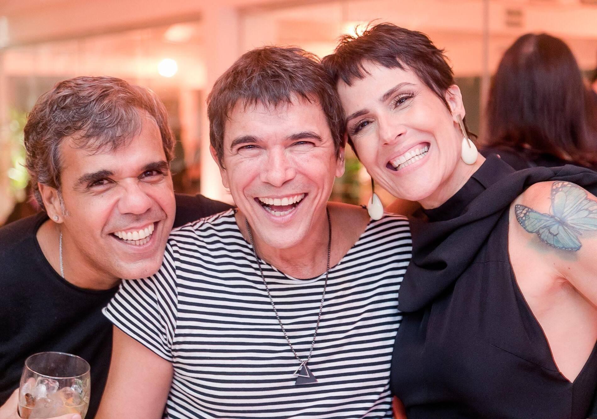 Evandro Rius, Milton Guedes e Helena Duncan /Foto: Miguel Sá